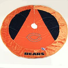 @Overstock.com.com - Chicago Bears Official NFL Christmas tree skirt  Tree skirt features embroidery stitched logo, team name and colors  Football collectible is officially licensed by the league and the teamhttp://www.overstock.com/Sports-Toys/Chicago-Bears-Official-NFL-Christmas-Tree-Skirt/3119695/product.html?CID=214117 $31.99