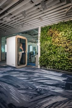 A Modern Tech Office in Latvia Featuring Bold Details and Bright Colors - Design Milk Workspace Design, Office Interior Design, Office Interiors, Office Designs, Amazing Architecture, Interior Architecture, Office Pods, Modern Tech, Workspace Inspiration