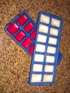 Reuse your candles and make new scent cubes- I am going to try a baster instead of a ladle to fill the ice cub trays.
