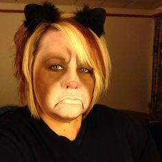 Grumpy Cat Halloween makeup. #grumpycat #makeup
