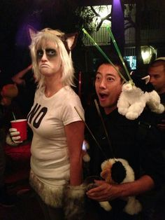 Awesome grumpy Cat cos play and @grantimahara from Mythbusters