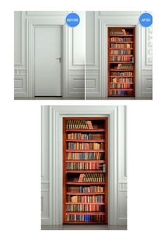 Bookcases with doors. amazing wall decoration bookshelves wi.