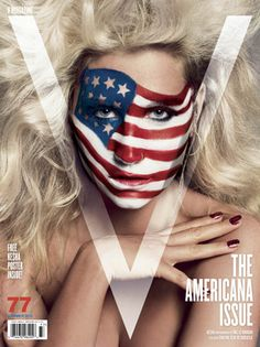 Kesha in American Flag Face