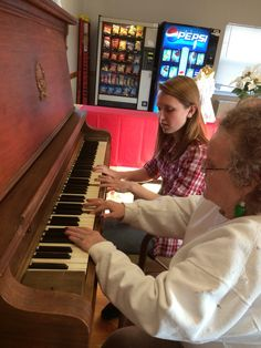 Grandma piano time By: Me! So special, not much time with grandma so this visit to the nursing home to visit my momma was extra sweet!