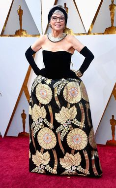 Rita Moreno from Standout Style Moments From Oscars 2018  Thank you to the West Side Story actress for bringing something extra to the red carpet.