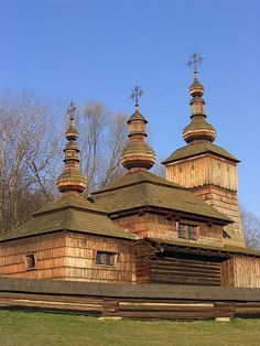 Wooden Church, Nova Polianka skanzen Svidnik,Slovakia