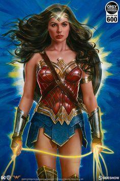 Wonder Woman: Lasso of Truth Fine Art Print by Olivia De Berardinis | Sideshow Collectibles Diana, Wonder Woman, Adam Thompson, Dc Comics, Muse, Alex Pardee, Olivia De Berardinis, Girl Toys Age 5, Pop Culture Art