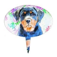 #Rottweiler Puppy Cake Topper - #rottweiler #puppy #rottweilers #dog #dogs #pet #pets #cute