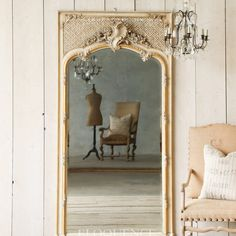 Antique Trumeau Ballroom Mirror $6,045.00 #thebellacottage #eloquence #shabbychic Mirror Photo Frames, Mirrors, Mirror Mirror, Trumeau, Shabby Chic, Online Furniture, Luxury Interior, Oversized Mirror, Antiques