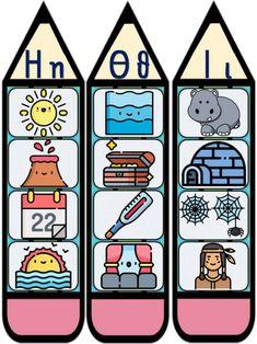 Αφίσες - σελιδοδείκτες πρώτης ανάγνωσης & γραφής για την Πρώτη Δημοτ… Christmas Treat Bags, Preschool Learning, Learn To Read, Alphabet, Kindergarten, Lettering, Writing, Education, Reading
