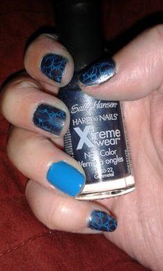 Stamping manicure nail art.   - ld