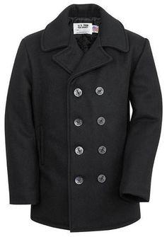 Schott Classic 32 Oz. Navy Melton Wool Naval Pea Coat