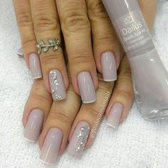 Nails, reverse French manicure
