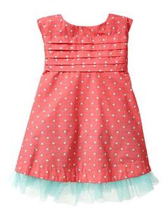 Find a pattern like this.. Pleated dot cutout dress | Gap