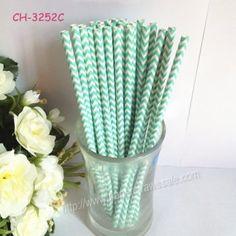 Paper Straws Printed With Aqua Chevron http://www.paperstrawssale.com/paper-straws-printed-with-aqua-chevron-500pcs-p-308.html
