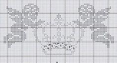 .Anges, Cherubs, Crown-Cross stitch pattern