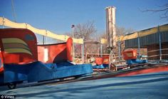 New images of an abandoned theme park: This once-popular ride is now rusting away along with the rest of the amusement park, which was opened in 1949 to house a miniature railway