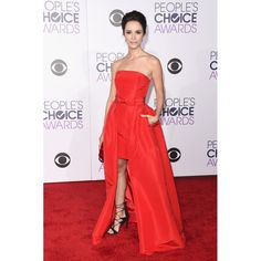 Abigail Spencer Red High-low Prom Dress 2016 People's Choice Awards Red Carpet
