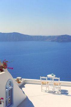 Vista al mar, Santirini, Grecia