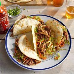 Korean Pulled Pork Tacos Recipe | Taste of Home
