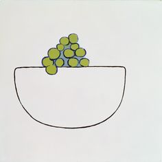William Scott, [Grapes in Bowl], 1970, Oil on canvas, 50.8 × 50.8 cm / 20 × 20 in, Private collection
