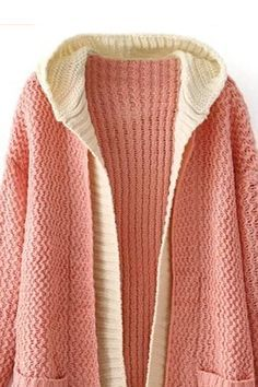 Diy Crafts - JavaScript seems to be disabled in your browser. Crochet Hoodie, Crochet Cardigan Pattern, Knit Fashion, Fashion Fabric, Knitted Coat, Crochet Woman, Pulls, Sweaters For Women, Street Fashion