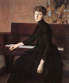Julian Alden Weir, At the Piano.
