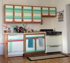 diy kitchen cabinets with washi tape d cor we