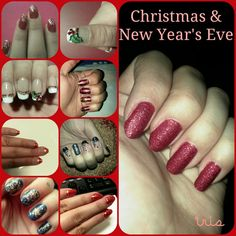 Christmas/new year's eve/red /white/blue/black nails