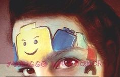Lego face painting