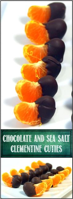 "Salted Chocolate Clementine Cuties - 52 Snacks for Children's Church... The simplicity of this ""recipe"" does not at all diminish the popularity. EASY to make, CHEAP to make and a real crowd pleaser fo adults and kids alike. Served these up to our Children;s Church Snack and the kids gobbled em down!"