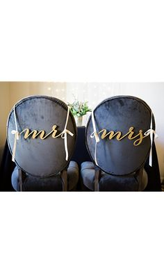 Mr and Mrs Chair Signs for Wedding, Hanging Chair Signs Wooden Wedding Signs Bride & Groom Best Price