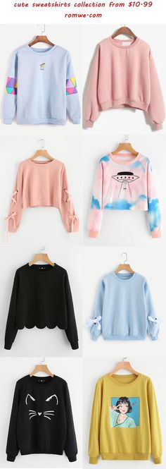 cute sweatshirts collection from romwe.com