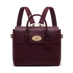 Cara Delevingne Bag in Oxblood Natural Leather | Cara Delevingne | Mulberry