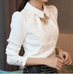 Flowers Puff Blouse- $30.00 Shop now on www.instylook.com