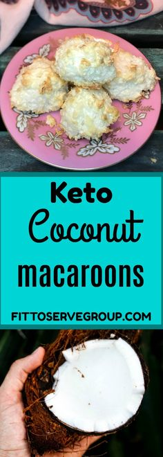 Keto Coconut Macaroons an easy low carb keto treat #keto #lowcarb #ketomacaroons #lowcarbmacaroons