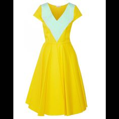 Robe chic jaune Vionnet