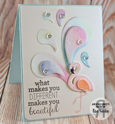 Reverse Confetti Sneak Peek {day 3 Fruit and Flamingos} New stamps and dies available July 8 from Reverse Confetti-Fabulous Flamingos and Perfect Paisleys used here.