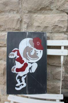 Ohio State Wall Art ohio state buckeyes, brutus, osu wood wall art, distressed sign