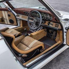 bespoke interior of aSinger Vehicle Design Porsche Singer Porsche, Custom Car Interior, Car Interior Design, Automotive Upholstery, Car Upholstery, Audi A7, Bmw I8, Porsche 911, Custom Cars