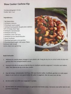 Kip cashew uit de SC - Slowcookers NL
