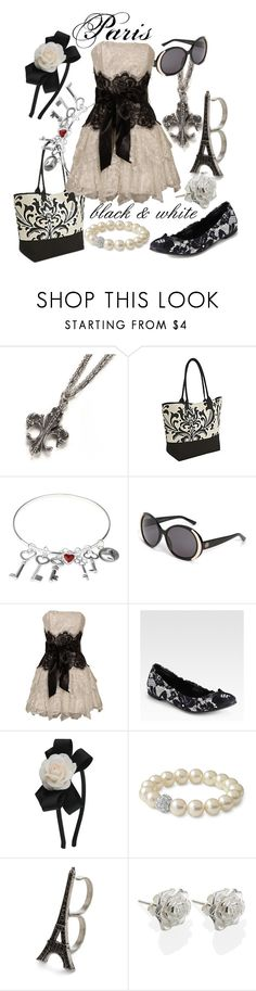 """""""2. Parisian Black and White"""" by princesschandler ❤ liked on Polyvore featuring Earth Axxessories, VIcenza, House of Harlow 1960, PacificPlex, Dolce&Gabbana, Forever 21, Stella & Dot and Dower & Hall"""