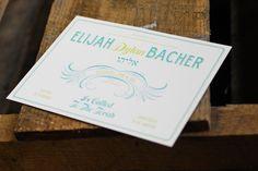 """Bella Tara"" letterpress bar mitzvah invitation by Bella Figura. Customize yours with Paper Passionista."