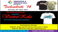 T-shirt Design Competition @ Technokriti'14