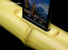 Una idea, dos productos: Altavoz hecho de bambú