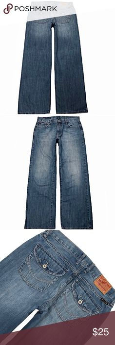"14786ee5 Lucky Brand 34X32 Newman Straight Leg Blue Jeans A Nice Pair Of Lucky Brand  ""Newman"