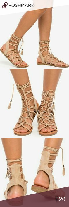 👡NWT Sam-24A Ahead of the Game👡 New with Box  🌻Up your shoe game with this lust-have pair of faux suede sandals, featuring a strappy upper and a lace up front. Open front and back. Rugged gum sole.  🍁Color:  Nude ✔All Reasonable Offers Accepted  ✔Bundle Discounts!💲💲💲 Thank you for stopping by!  Make an offer! 👍 WILD DIVA LOUNGE  Shoes Sandals