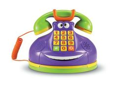 Learning Resources Funny Phone Family Game by Learning Resources. $20.02. With over 300 challenges. Features automatic shut-off, adjustable volume and break-away safety cord. Keep kids on the move with floor play, or play on a table. Group game gets players of all ages giggling. Amazon.com                With the Learning Resources Funny Phone, you'll never guess what game awaits you on the other line. This electronic phone game has nine challenges and over 300 questions...