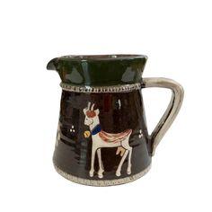 Kohler Biel Folk Art Cow Pottery Jug Pitcher / Vintage Swiss | Etsy