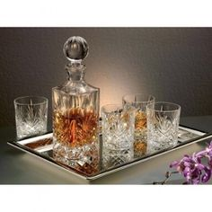 Dublin Whiskey Set - 6 Piece. This Whiskey set is guaranteed to enhance your luxury office or your home library to entertain your guests with.